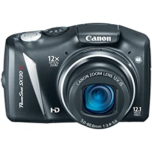 Canon PowerShot SX130IS 12.1 MP Digital Camera with 12x Wide Angle Optical Image Stabilized Zoom with 3.0-Inch LCD by Canon