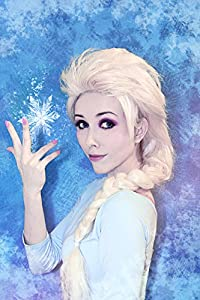 Kid's Elsa Elza from Frozen Costume Wig + Free Wig Cap, Princess Hair