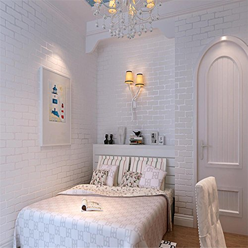 Cloere serie en 3d blanco ladrillo decoraciones de papel - Papel pared ladrillo ...