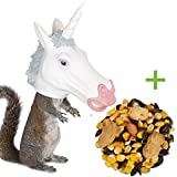 Unicorn Head Squirrel Feeder AND Food - Ready to Hang - Let the FUN Begin
