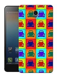 "Vintage Beetle Printed Designer Mobile Back Cover For ""Lenovo S860"" By Humor Gang (3D, Matte Finish, Premium Quality, Protective Snap On Slim Hard Phone Case, Multi Color)"