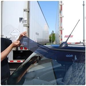 Static Cling Windshield Window Tint Sun Visor Strip Kit Toyota Camry 2007 2008 2009 2010 2011 - 20% Visor (Static Cling)