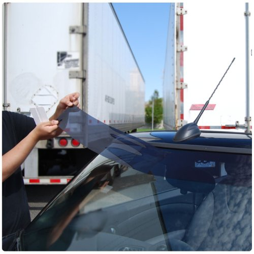Static Cling Windshield Window Tint Sun Visor Strip Kit Hyundai Accent Sedan 2000 2001 2002 2003 2004 2005  20% Visor (Static Cling) Picture