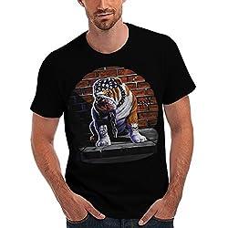 Tank British Bulldog Tattoo Dog Men Black T-shirt S-5XL   Wellcoda