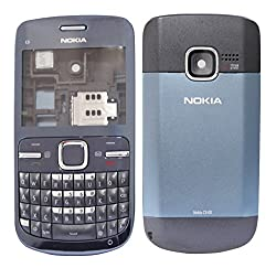 Nokia C3 Replacement Body Housing Front & Back Original Panel - Blue