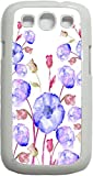03-Watercolor Florals White Plastic Case - for the Samsung Galaxy s3 i9300