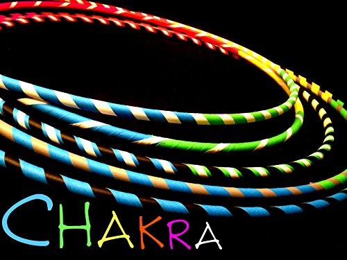"""28"""" Chakra Taped Hula Hoop"""