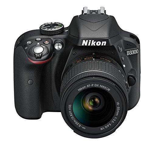 Nikon D3300 Kit Fotocamera Reflex Digitale con Nikkor 18/55 VR, 24.2 Megapixel, LCD 3 Pollici, Nero [Versione EU]