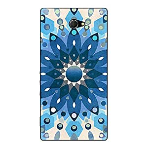 Jugaaduu Dream Flower Pattern Back Cover Case For Sony Xperia M2