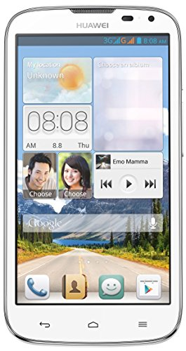 """Huawei G610 Unlocked Android Smartphone (White), 5"""" Ips Screen, Quad-Core 1.2 Ghz Cpu, 4Gb Rom, Dual Camera (5Mp Primary) With Flash"""