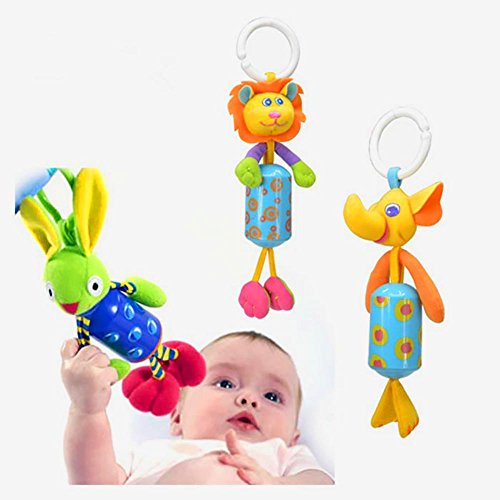 Kiddos Baby Rattle Toy Kids Stroller Hanging Bell Carseat\Pram Toy Cute Wind Chime,Christmas Gift