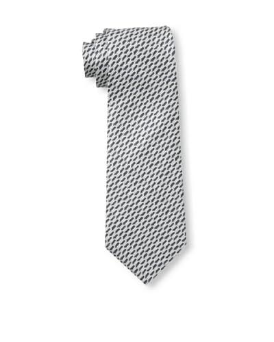 Valentino Men's U Pattern Tie, Grey