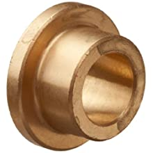 Bunting Bearings CFM008011006  Cast Bronze C93200 SAE 660 Flanged Sleeve Bearings, 8mm Bore x 11mm OD x 6mm Length - 14mm Flange OD x 1.5mm Flange Thick