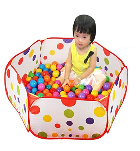 Zelt 2 Tote : Tongshi m pop up hexagon polka dot ball spielen pool