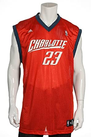 Buy Adidas Mens Orange NBA Charlotte Bobcats Jason Richardson Jersey by adidas
