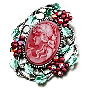 c870af3e6 July Oval Beauty Head Cameo Brooches And Pins Vintage: Pugster: Jewelry