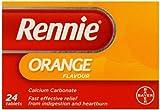 Rennie Orange Chewable Tablets - Pack of 24 Tablets