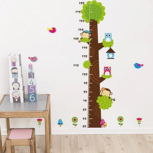 rubility pegatinas de pared vinilo pegatina decorativa infantil adhesiva para pared dibujos animado mono bho