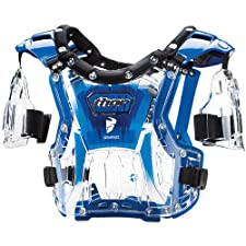 Thor MX Quadrant Protector Youth Roost Deflector Dirt Bike Motorcycle Body Armor - Clear/Blue / One Size