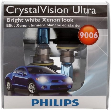 Philips 9006 CrystalVision Ultra Replacement Bulb, (Pack of 2)