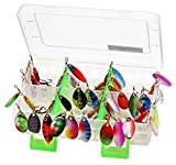 LotFancy 30 PCS Metal Fishing Lures and Storage Box, Spinner Baits Crankbait Hooks Salmon Bass (Assorted, Storage Case+30PCS Spinner Lures)