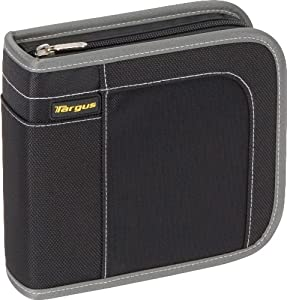 Targus CityGear 40 Capacity CD/DVD Wallet Case TDP015US (Black with Grey Contrasting)