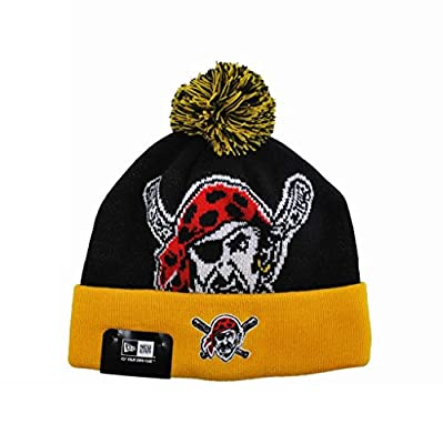New Era Mlb Pittsburgh Pirates One Size Beanie Black/gold Knit Hat