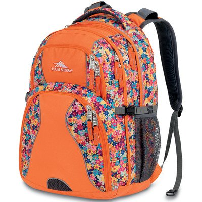 High Sierra Swerve Backpack, Taj Flowers/Orange, 19X13X7.75-Inch