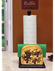 Paper Towel Holder and Napkin Holder Tuscany Grape Decor by ACK