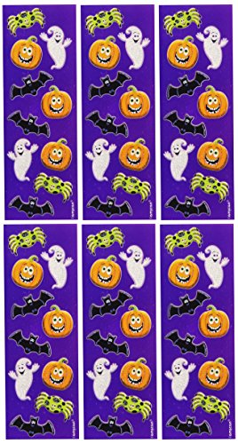 Halloween Toy ~ Cute Glitter Sticker Strips Stickers (6 per package)