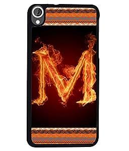 Fuson 2D Printed Alphabet M Designer back case cover for HTC Desire 820 - D4202