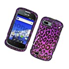 Eagle Cell PIZTEFURYG2D171 Stylish Hard Snap-On Protective Case for ZTE Fury/Director - Retail Packaging - Purple Leopard