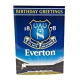 Everton F.C. Musical Birthday Card- musical birthday card- approx 22.5cm x 15.5cm- message inside 'from everyone at goodison park'- official licensed product