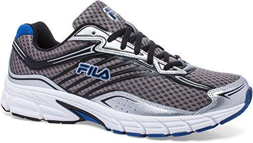 Fila Men's Xtenuate Running Shoe, Dark Silver/Metallic Silver/Prince Blue, 10.5 M US