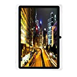 7Inches Tablet PC HD Touchscreen Mic WIFI Android 4.4 Octa Core Quad Core Tablet PC 8GB Dual Camera Wifi ,Support Games, Skype ,MSN ,Facebook, Twitter, etc (White)