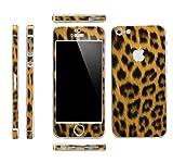 Apple iPhone 4/4S Aluminium Protective Sticker Skin Full Body Matte (Anti Finger Anti Glare Screen Protector Guard Film - 2 pack) for Luxury looks Diamond Cutting (Leopard Pink)