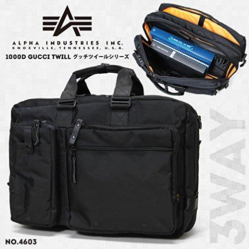 va- 4603-sw ブリーフケース 45cm 3way 2ROOM ビジネスバッグ マチ拡張 ALPHA アルファ グッチツイール B4 PC対応 キャリーセットアップ 軽量 Amazon限定 オリジナルモデル No. 4603 ブラック(Black)