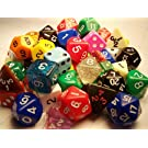 Half Pound of Dice with 4 polyhedral sets in assorted colors
