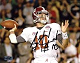 "A.J. McCarron Autographed/Signed Alabama Crimson Tide 8x10 NCAA Photo ""White Jersey"" at Amazon.com"