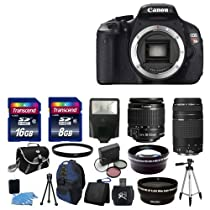 Hot Sale NEW Canon EOS Rebel T3i SLR Camera + 4 Lens Kit 18-55 IS 75-300 + 24GB Full Kit. My KN (NEW Canon EOS Rebel T3i SLR Camera + 4 Lens Kit 18-55 IS 75-300 + 24GB Full Kit)