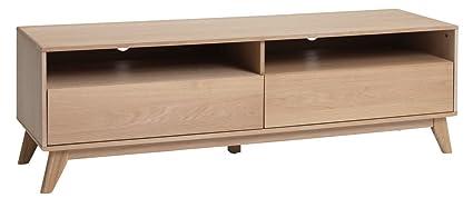 JYSK TV bench KALBY 2 drawers light oak