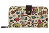 Borella Butterfly & Bugs Large Folding Wallet Womens Purse Wallets