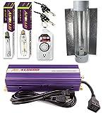 Apollo Horticulture GLK600CT24E 600 Watt Grow Light Digital Dimmable HPS MH System for Plants Cool Tube Hood Set