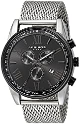 Akribos XXIV Analog Black Dial Mens Watch - AK813SSB