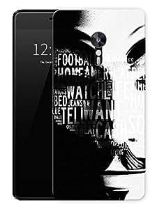 "V For Vendetta Mask TypographyPrinted Designer Mobile Back Cover For ""Lenovo Zuk Z2 Pro"" (3D, Matte, Premium Quality Snap On Case)"