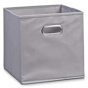 zeller 14130 boite de rangement en tissu gris 28 x 28 x 28 cm cuisine maison. Black Bedroom Furniture Sets. Home Design Ideas