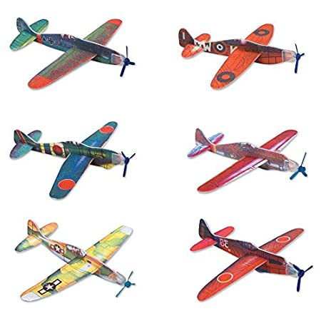 8 inch foam glider plane. Assorted styles. Individually packaged. Easy to assemble. These styrofoam flying gliders definitely have the right stuff, requiring very little assembly while providing lots of fun. Just attach the body to the wings and let ...