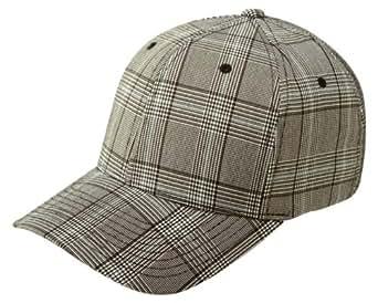 FLEXFIT Plaid Karo Baseball Cap in versch. Farben (S/M - bis 58 cm, Grau)