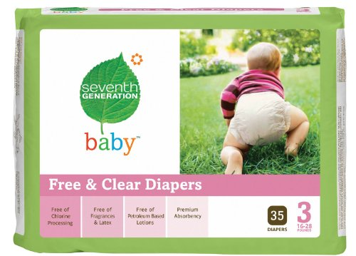 Chlorine Free Baby Diapers Size 3 35 Count (16-28 lbs) - 1