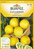 Burpee 66993 Cucumber Lemon Seed Packet